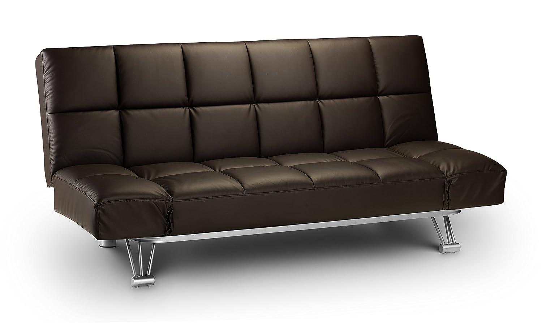Julian Bowen Manhattan Faux Leather Sofa Bed, Black: Amazon.co.uk: Kitchen  U0026 Home