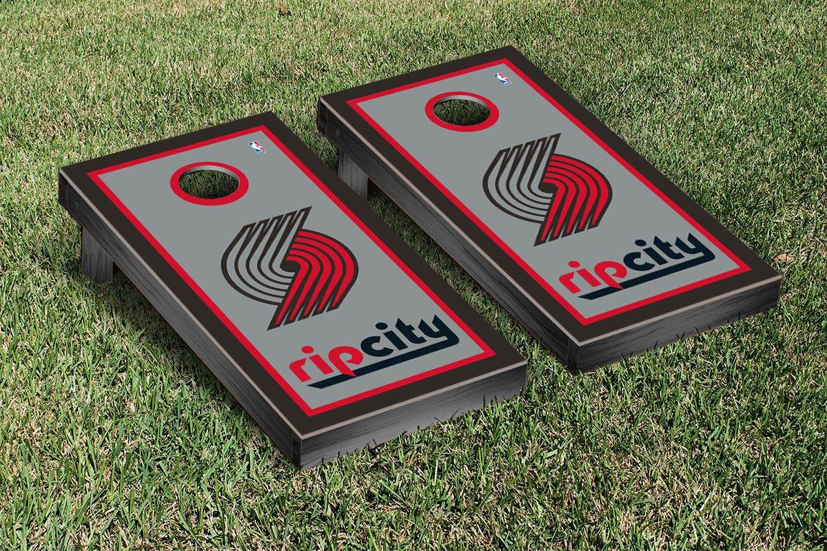 Portland Blazers Trailblazers NBA Basketball Regulation Cornhole Game Set Border Version