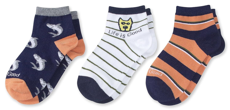 Life is Good Boys 3-Pack Quarter Socks
