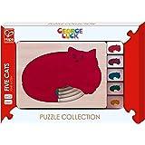 Hape - E6514 - George Luck - Puzzle - Cinq Chats en Un - 6 pièces