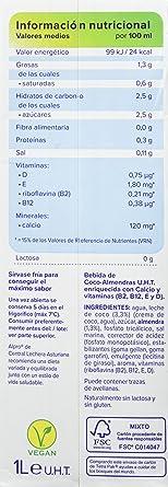 Alpro Central Lechera Asturiana Bebida de Coco Almendra - Paquete de 8 x 1000 ml - Total: 8000 ml: Amazon.es: Alimentación y bebidas