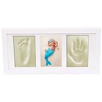3D Gipsabdruck-Set in Geschenkverpackung //// Baby Handabdruck /& Fußabdruck