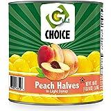 Global Choice - Peach Halves in Light Syrup - 106 oz - JUMBO size (1 Jumbo Size Can (106 OZ))