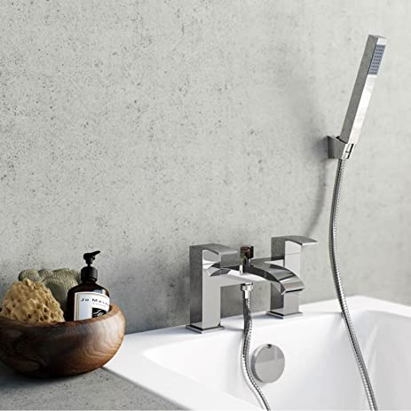 Amazon.com: Waterfall Bath Mixer Filler Tap with Shower Bathroom ...