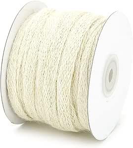 "Kel-Toy Inc 3/8"" x 25 Yard Braided Burlap Ribbon Trim-for Scrapbooking, Crafts, Gift Wrap-Ivory"