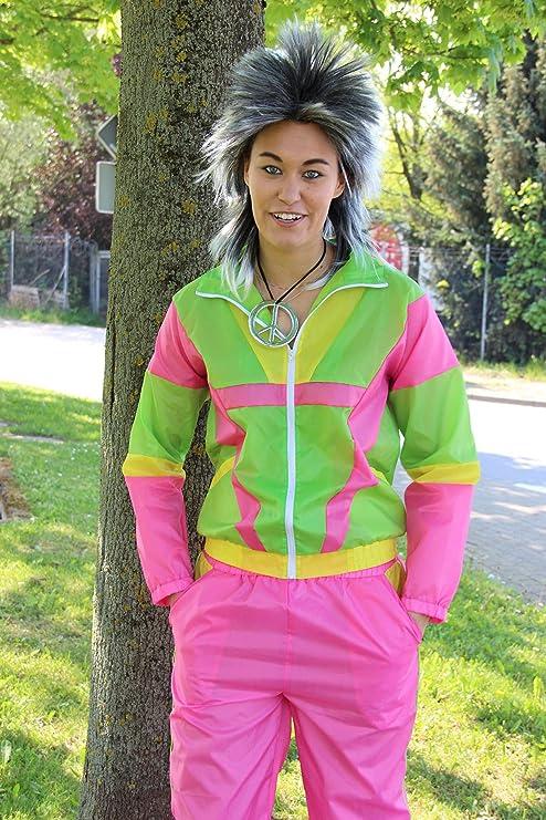 Foxxeo 80s Disfraz para señoras chándal policía Mujer policía JGA ...