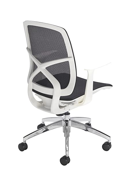 white frame office chair. Office Hippo Mesh Swivel Desk Chair With Arms, White Frame F