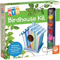 MindWare Make Your Own: usable Birdhouse - Outdoor Wood Craft for Kids - Learn Creative DIY Hobbies for Boys & Girls - All Components Included in This 27pc kit - Garden Building for Kids & Teens