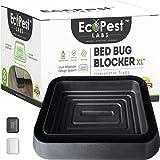 EcoPest Labs Bed Bug Blocker (XL), Extra Large Bed Bug Interceptor Traps, Monitors and Detectors - 8 Pack (Black)