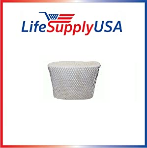 LifeSupplyUSA Replacement Humidifier Wick Filter C Compatible with Holmes HWF65, Sunbeam SF206, Bionaire BWF65, White-Westinghouse WWH650