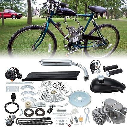 ambienceo 80 cc 2 tiempos bicicleta motorizada de motor Kit DIY gasolina Gasolina Motor Kit Set para 24