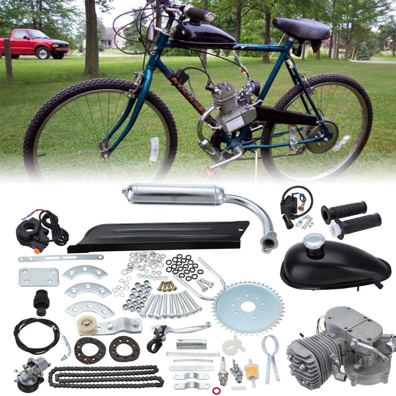 d86562f276f Ambienceo 80cc 2 Stroke Bicycle Engine Kit DIY Motorized Petrol Gasoline Motor  Kit Set For 24