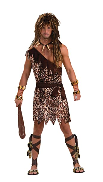 Menu0027s Stone Age Style Cave Stud Costume Animal Print One Size  sc 1 st  Amazon.com : halloween costumes leopard print  - Germanpascual.Com