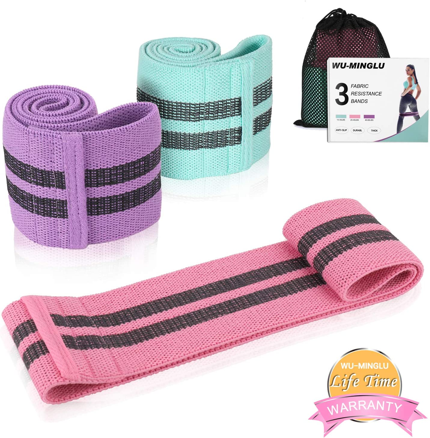 ink-topoint Fabric Circle Resistance Bands Sport Booty Band Set (3 Pack) WAS £11.99 NOW £5.99 w/code QDEBC6TP @ Amazon