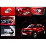 Autopearl Auto Pearl Chrome Plated Accessories for Renault Kwid - Set of 7