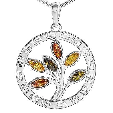 Bernstein Lebensbaum Anhänger Medallion 925 Silber Schmuck Amulett  2015   Amazon.de  Schmuck 0ebfab19b5