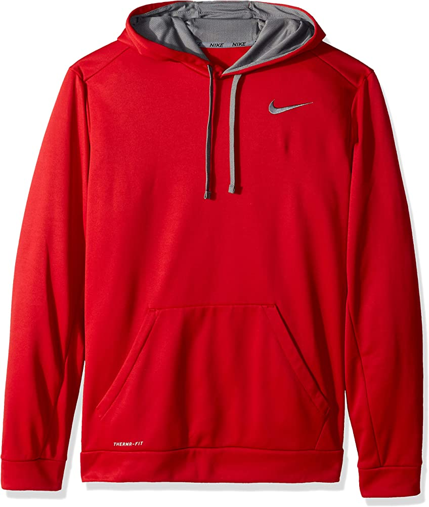 60a5e26f Amazon.com: Nike Men's KO Hoodie 3.0, Gym Red/Dark Heather Cool Grey ...