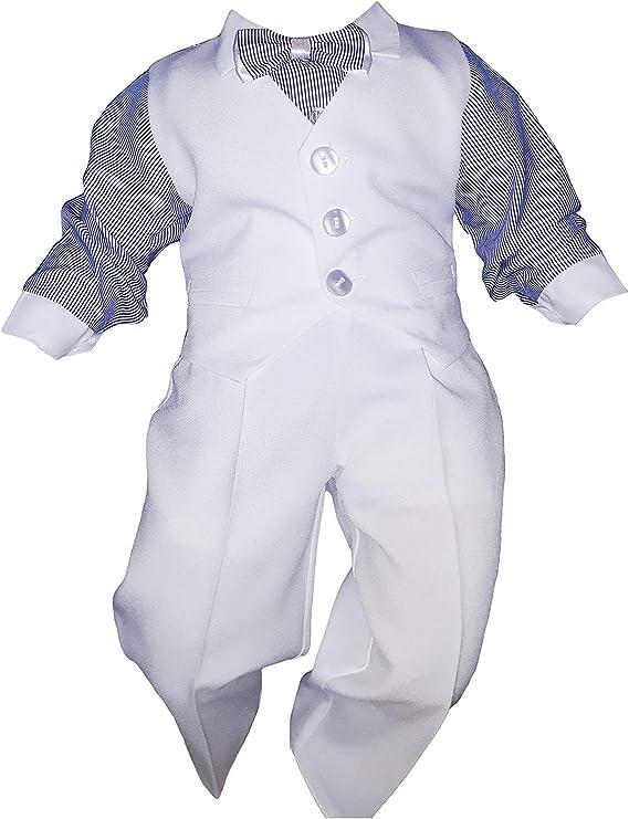 NEU Baby Kleidung 4-tlg SET Baby Anzug Taufanzug Hochzeit Festlich Blau Jungen