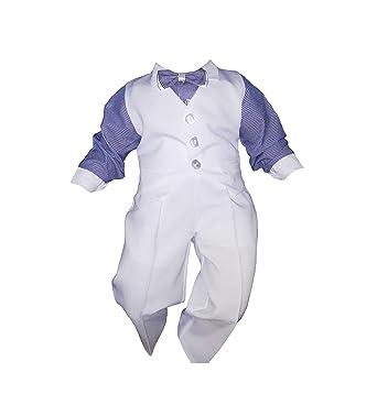 Unbekannt - Ropa de Bautizo - para bebé niño Weiß-Blau 62: Amazon ...