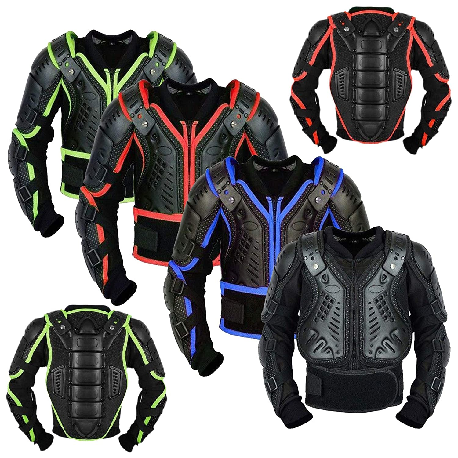 Kids Motorbike Body Armours Motorcycle Gear Armors Motorcross Bikes Guard CE Approved Child Protection Jacket - Year 10 REXTEK KAB-1