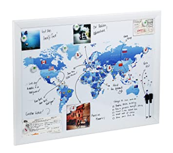 World map magnetic whiteboard maps to draw pin and amazon world map magnetic whiteboard maps to draw pin and plan your travels world gumiabroncs Gallery