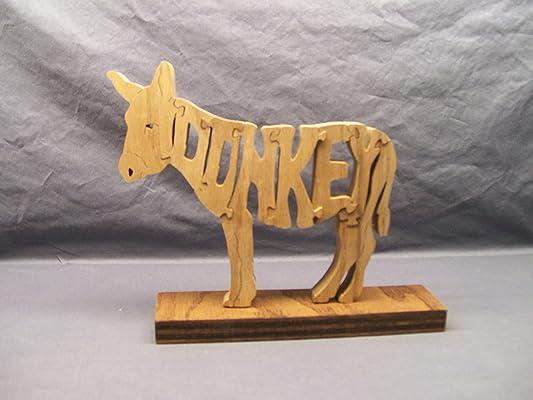 Handmade Wooden Woodimal Horse/Donkey Puzzle