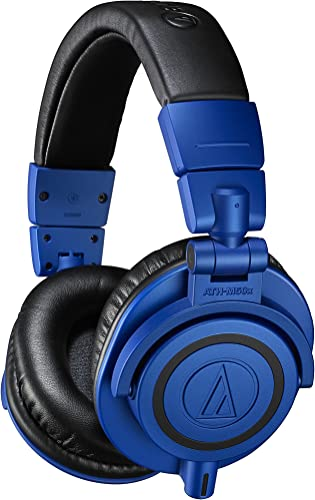 Audio-Technica ATH-M50xBB Limited Edition Professional Studio Monitor Headphones, Blue