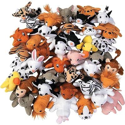 MINI PLUSH ANIMAL ASSORTMENT (50PC) - Toys - 50 Pieces: Toys & Games