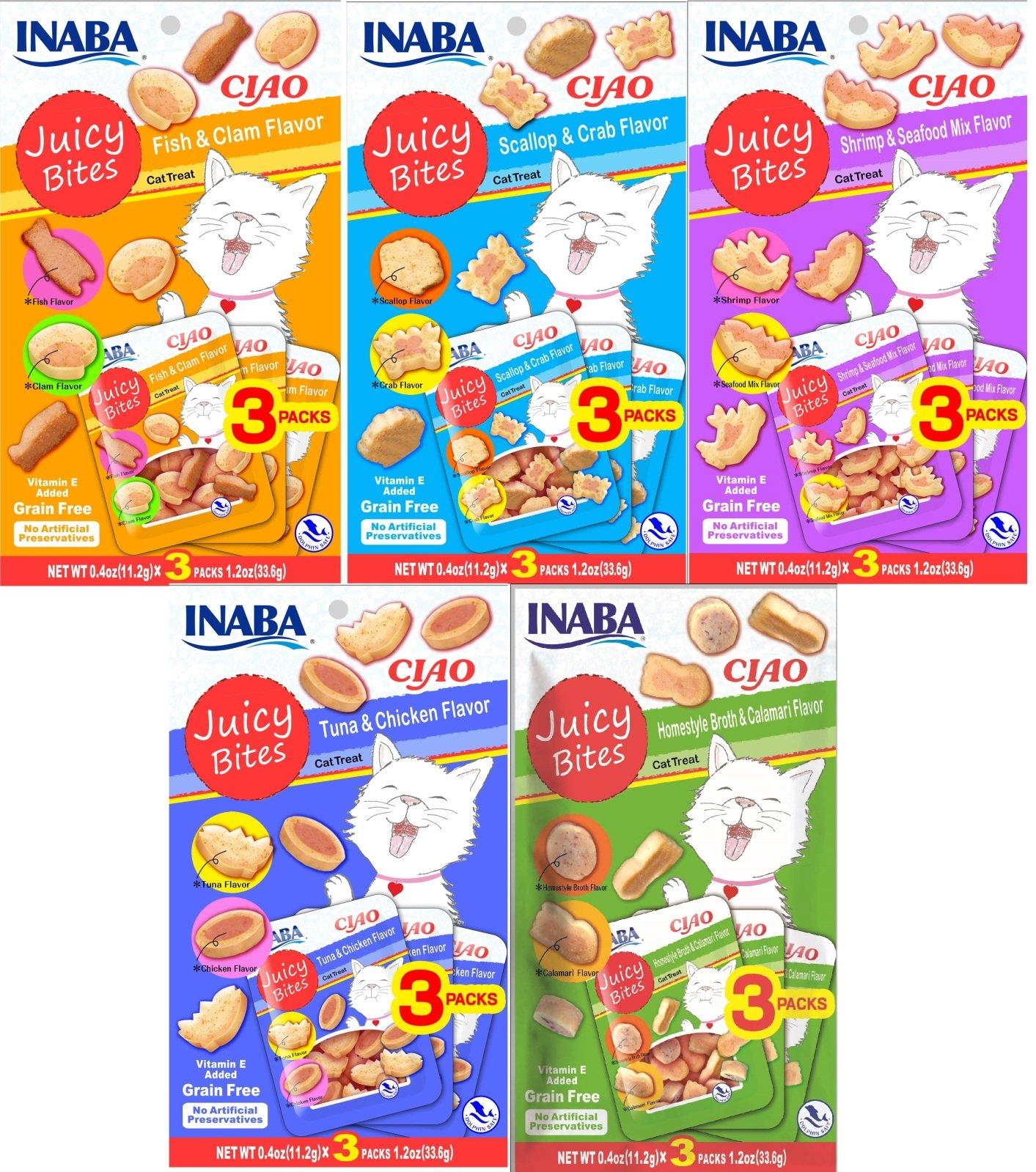 INABA Ciao Juicy Bites Cat Treats All Variety 5pk
