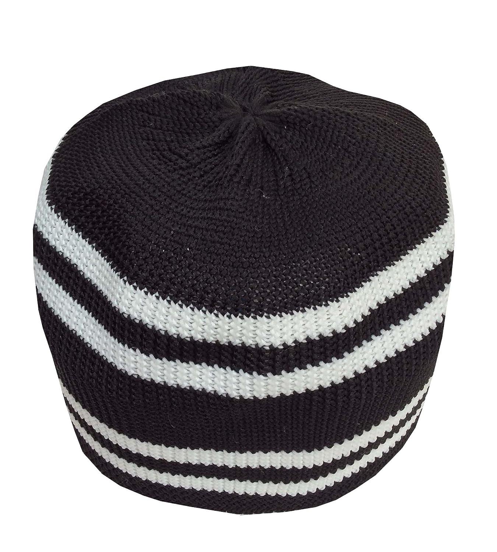 Nda eid koofi muslim mens stretchable kufi stuff prayer cap muslim hat black  white at amazon 6a3a4a5449