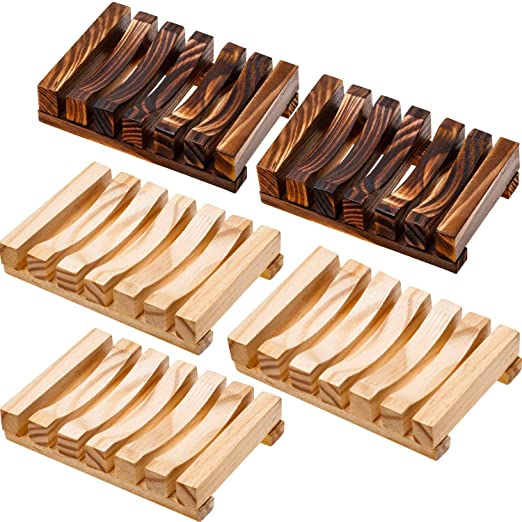 Handmade Teak Wood Soap Dish Hand craft Natural Wooden Soap Holder Bathroom