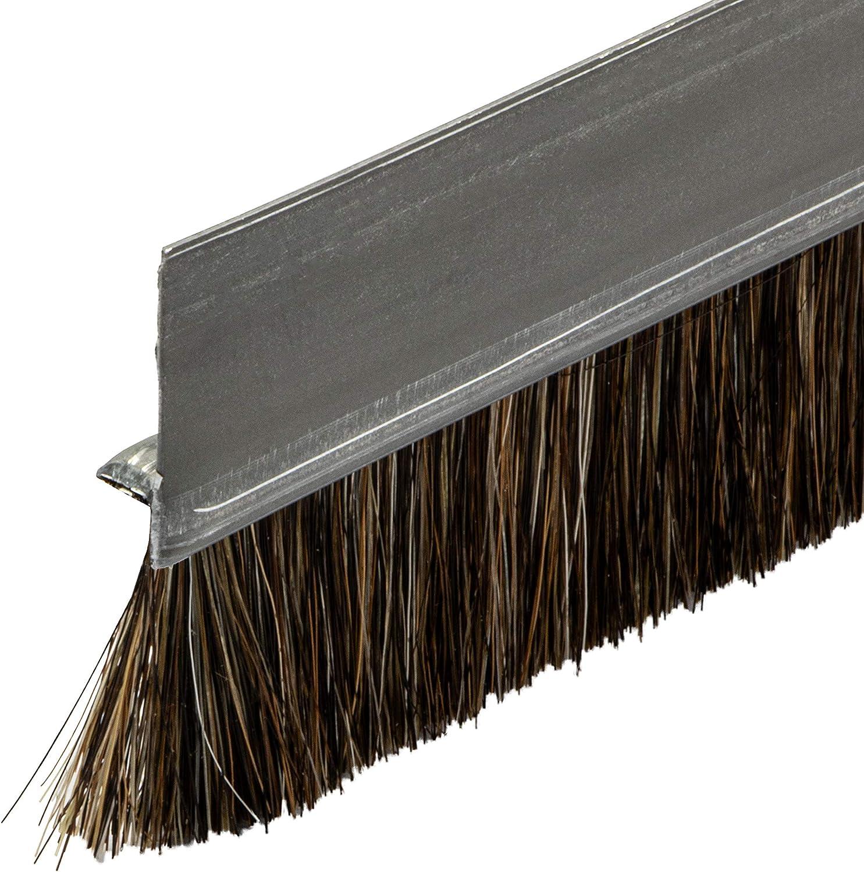 2000 mm GedoTec Junta de cepillo Cepillo de list/ón Cepillo de la puerta Junta puerta Chapa de acero Pelo de caballo negro 1000-2000 mm Calidad de marca