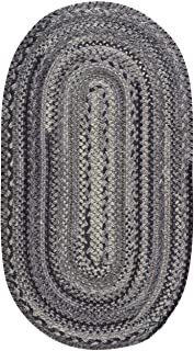 "product image for Capel Harborview Grey 0' 27"" x 0' 48"" Oval Braided Rug"