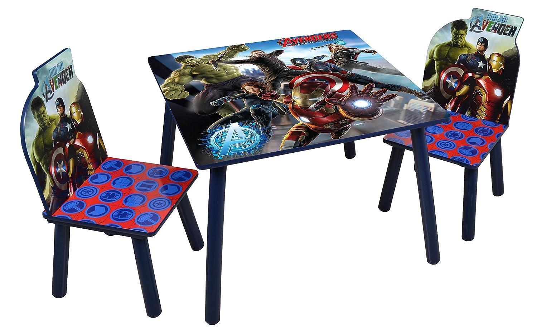 Disney Avengers Tisch und Stühle, Holz, Grau Jnh Europe Ltd TCAV5