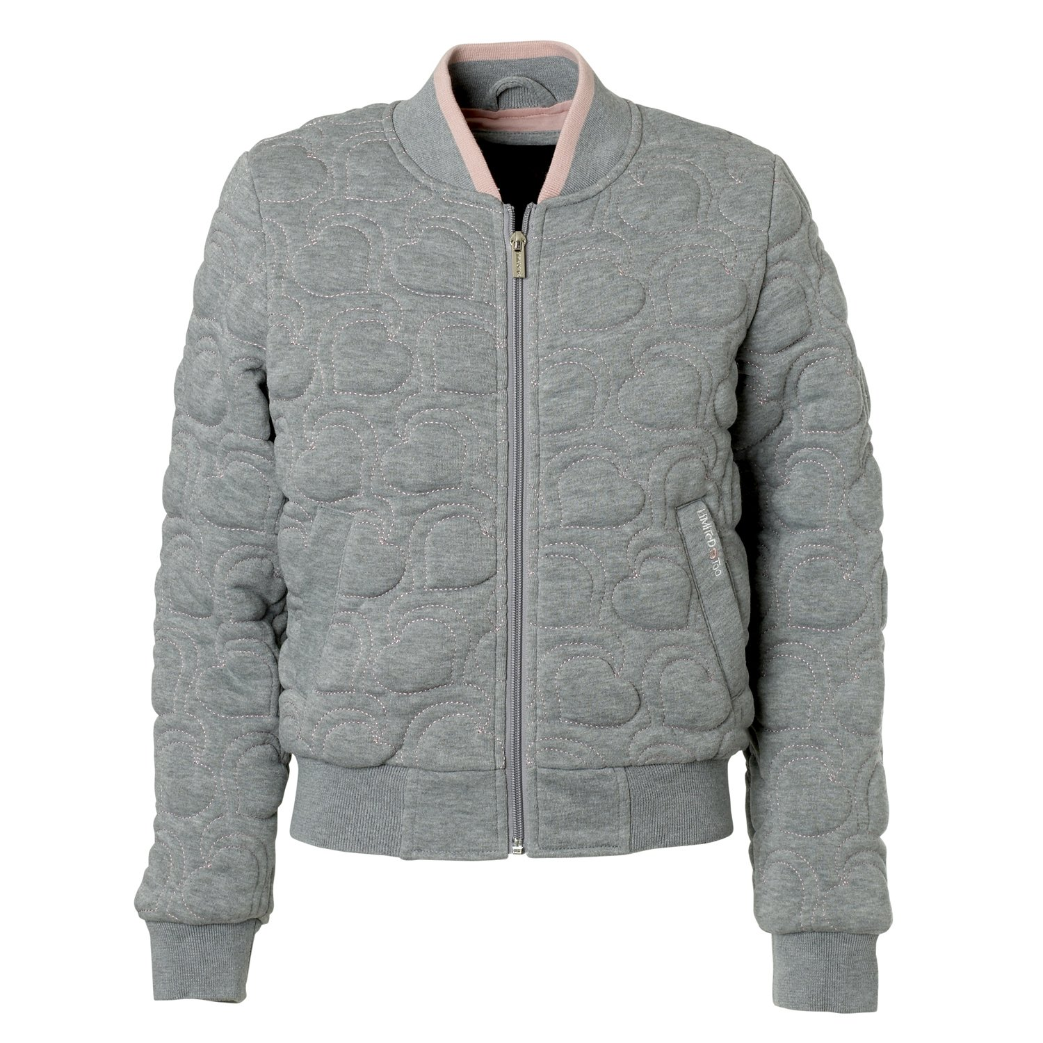 Limited Too Fleece Bomber For Toddler Girls – Structured Heart Shape Quilted