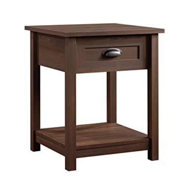 Sauder  County Line Night Stand, 19.843  L x 18.661  W x 23.898  H, Rum Walnut Finish