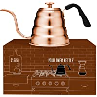 Barista Warrior Stainless Steel Pour Over Coffee & Tea Kettle with Thermometer for Exact Temperature - Gooseneck Spout…