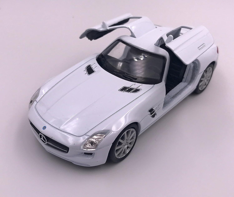 H-Customs Mercedes SLS AMG Modellauto Auto Lizenzprodukt 1:34 zuf/ällige Farbauswahl