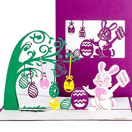 Frohe Ostern Karte.3d Pop Up Karte Frohe Ostern Osterkarte Mit Umschlag 3d Klappkarte Zu Ostern Einzigartige Ostergrusskarte Als Karte Geschenk Gutschein