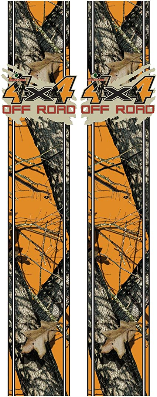 Mossy Oak Graphics 12010-BZ Blaze Mud Splash 4x4 Off Road Rear Quarter Panel Kit