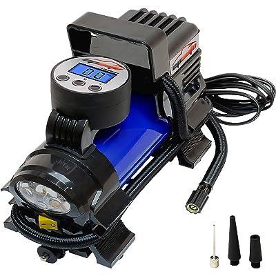 EPAUTO 12V DC Portable Air Compressor Pump, Digital Tire Inflator: Automotive [5Bkhe0111899]