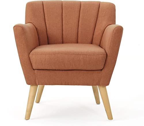 Christopher Knight Home Merel Mid-Century Modern Fabric Club Chair - the best living room chair for the money