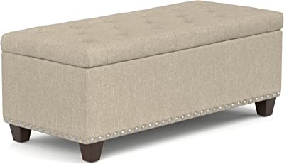 Amazon Com Belleze 48 Quot Inch Long Rectangular Upholstered