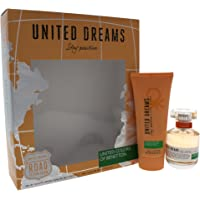 United Colors of Benetton United Dreams Stay Positive for Women, 2 Piece Gift Set 1.7oz EDT Spray, 3.4oz Body Lotion, 2…