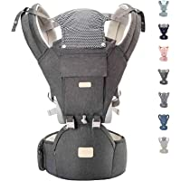 YIYUNBEBE Baby Carriers for All Seasons, 3-in-1 Baby Wrap Carrier with Hip Seat, Baby Carrier Infantino Backpack for Men…