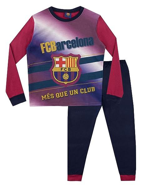 FCB FC Barcelona Pijama para Niños Football Club 3-4 Años