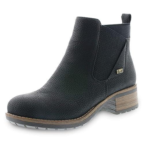 heiß TEX Stiefelette Herren Rieker Stiefel schwarz Schuhe