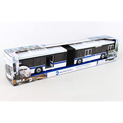 Daron RT8563 New York City MTA Metro Articulated Electric Bus 1:43 Scale- 16 Inches long: Toys & Games