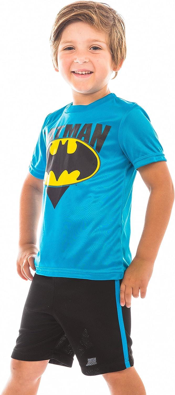 Tank Top and Shorts Set Warner Bros 3T Toddler//Little Boys Batman Shirt