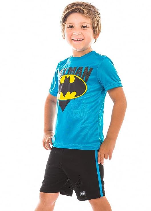 DC Comics Batman Kleinkinder Jungen Athletic Performance T-Shirt /& Maschen Shorts Set